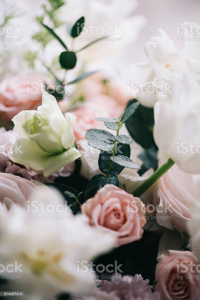 Beautiful Flower Bouquet Pink Roseseucalyptus Ranunculus Stock Photo Download Image Now Istock