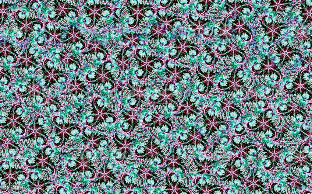 Beautiful flower design pattern texture for fabric, cloth stock photo