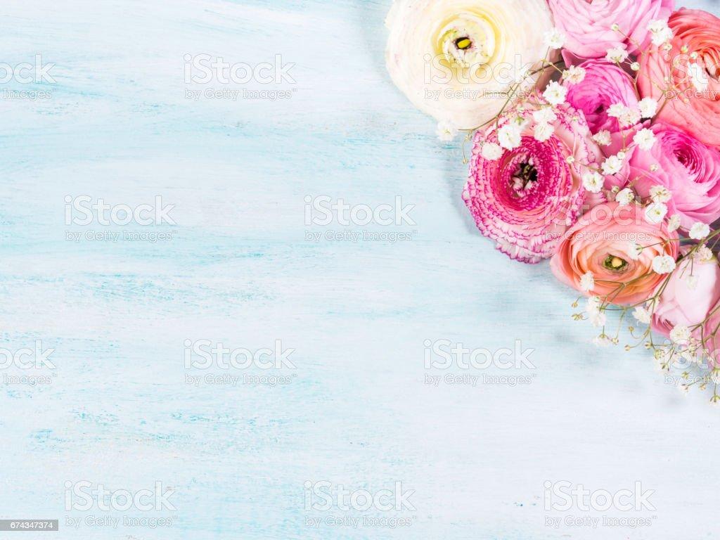 Buquê de quadro flor bonita em turquesa - foto de acervo
