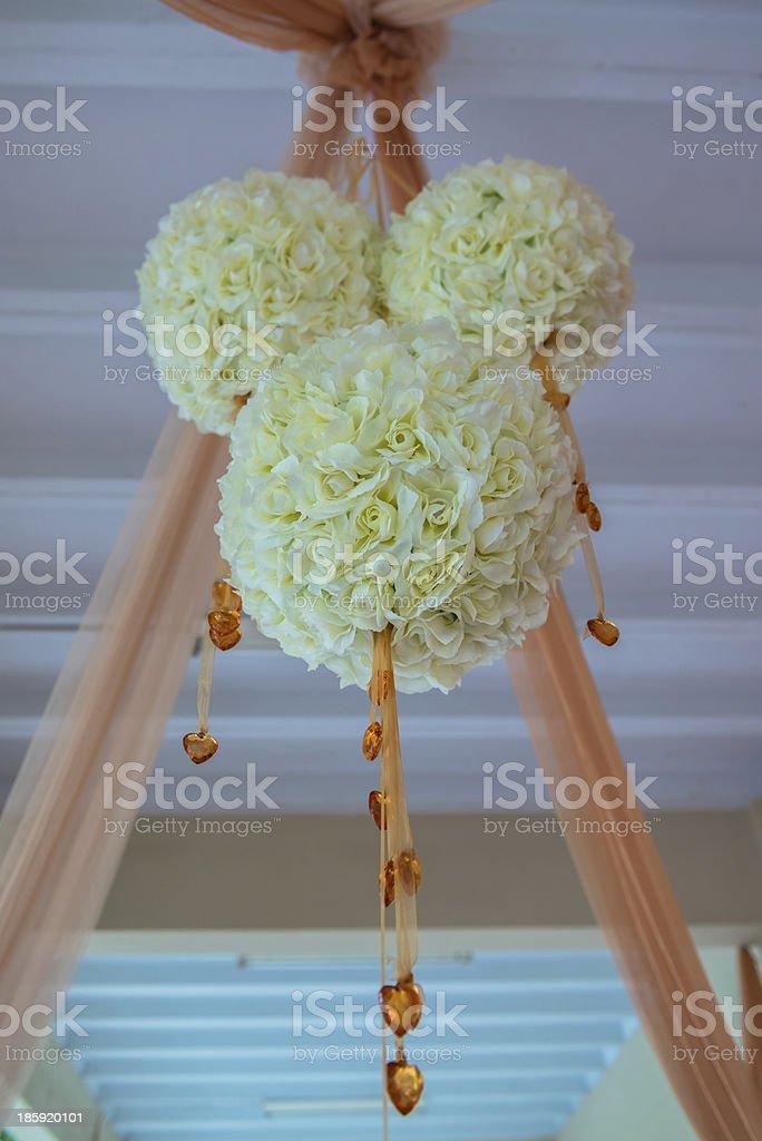 Beautiful flower wedding decoration royalty-free stock photo