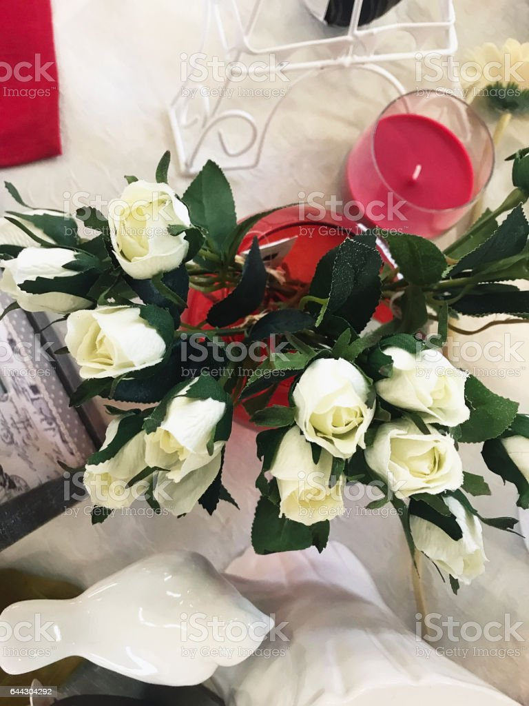 Beautiful flowers and nice gifts for valentines day stock photo beautiful flowers and nice gifts for valentines day royalty free stock photo izmirmasajfo