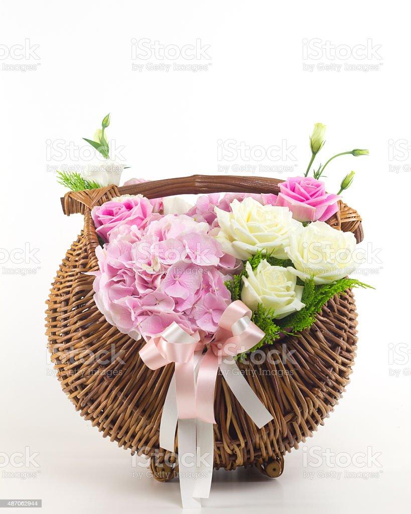 Beautiful flowers in basket stock photo more pictures of 2015 istock beautiful flowers in basket royalty free stock photo izmirmasajfo