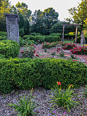 This flower garden is so beautiful and colorful with flowers in full bloom during the summer.