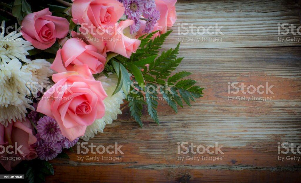 Beautiful Flowers On A Rustic Background Стоковые фото Стоковая фотография