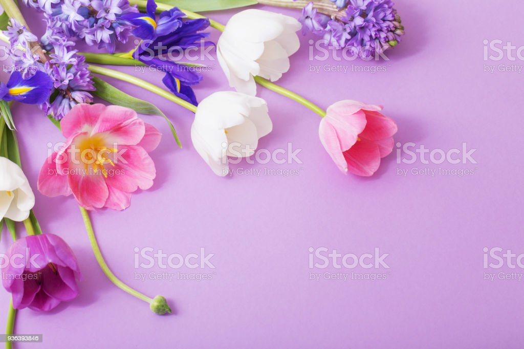 Beautiful flowers on paper background stock photo more pictures of beautiful flowers on paper background royalty free stock photo mightylinksfo