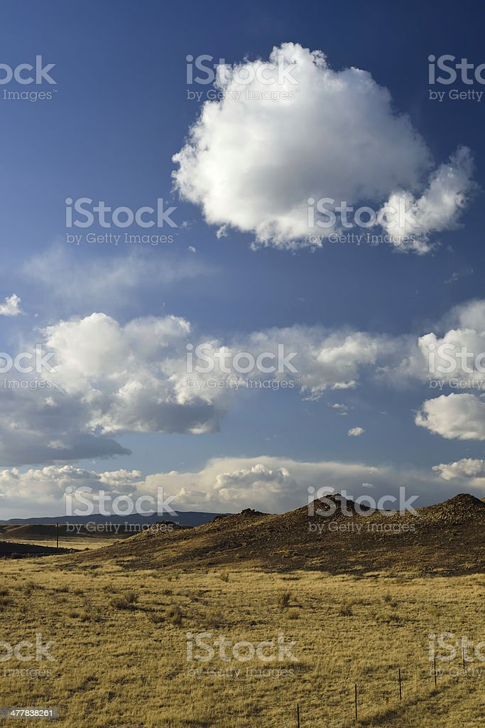 Beautiful fluffy clouds at New Mexico royalty-free stock photo