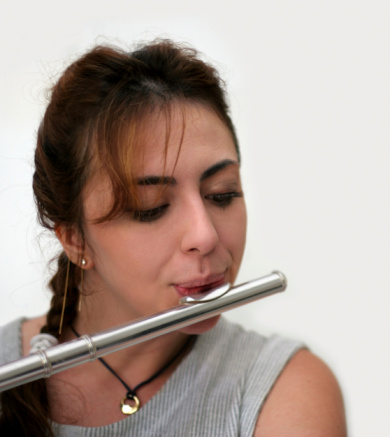 Beautiful Flutist Stock Photo - Download Image Now