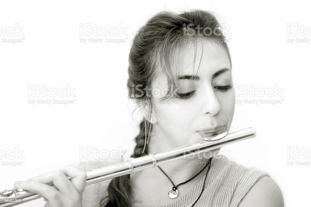 美しい Flutist - 1人のロイヤリティフリーストックフォト
