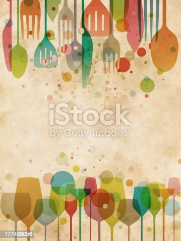 istock Beautiful food and drink background 177493056