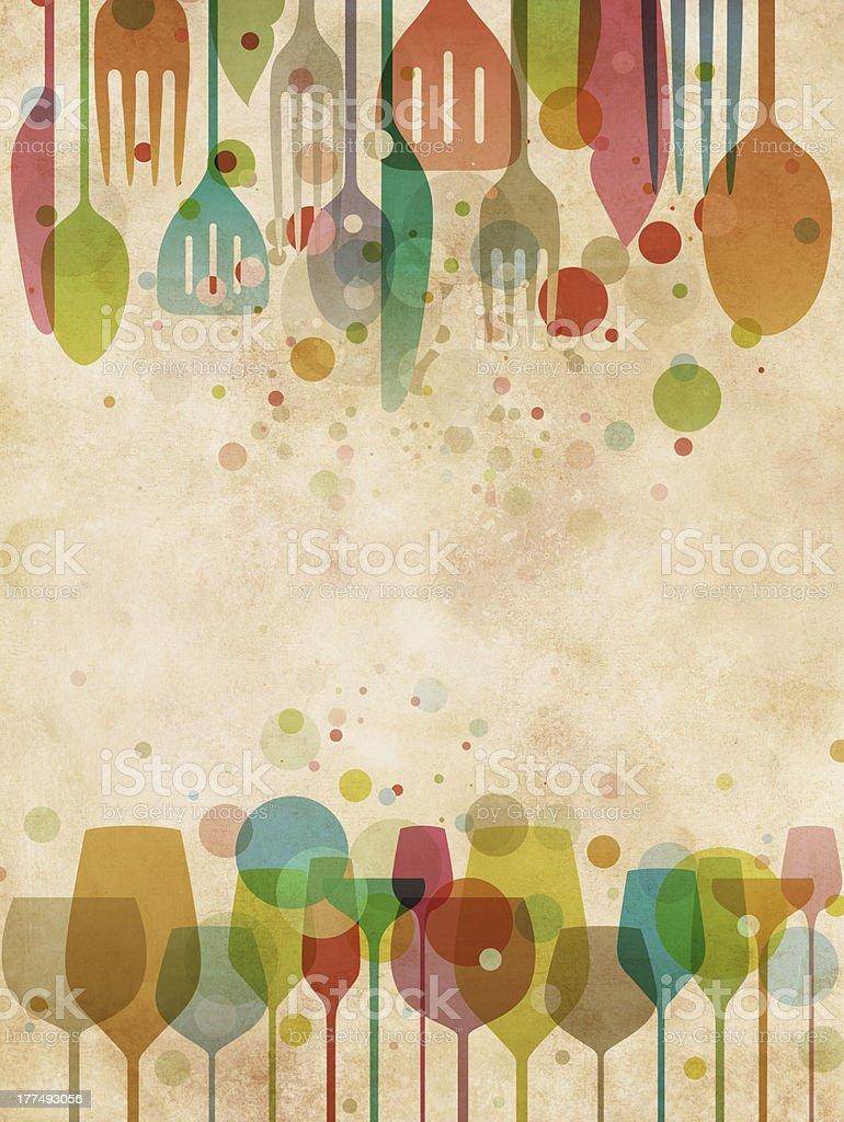 Beautiful food and drink background stock photo