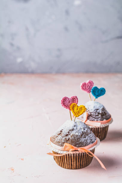 Beautiful food concept for Valentine day or Wedding, Birthday stock photo