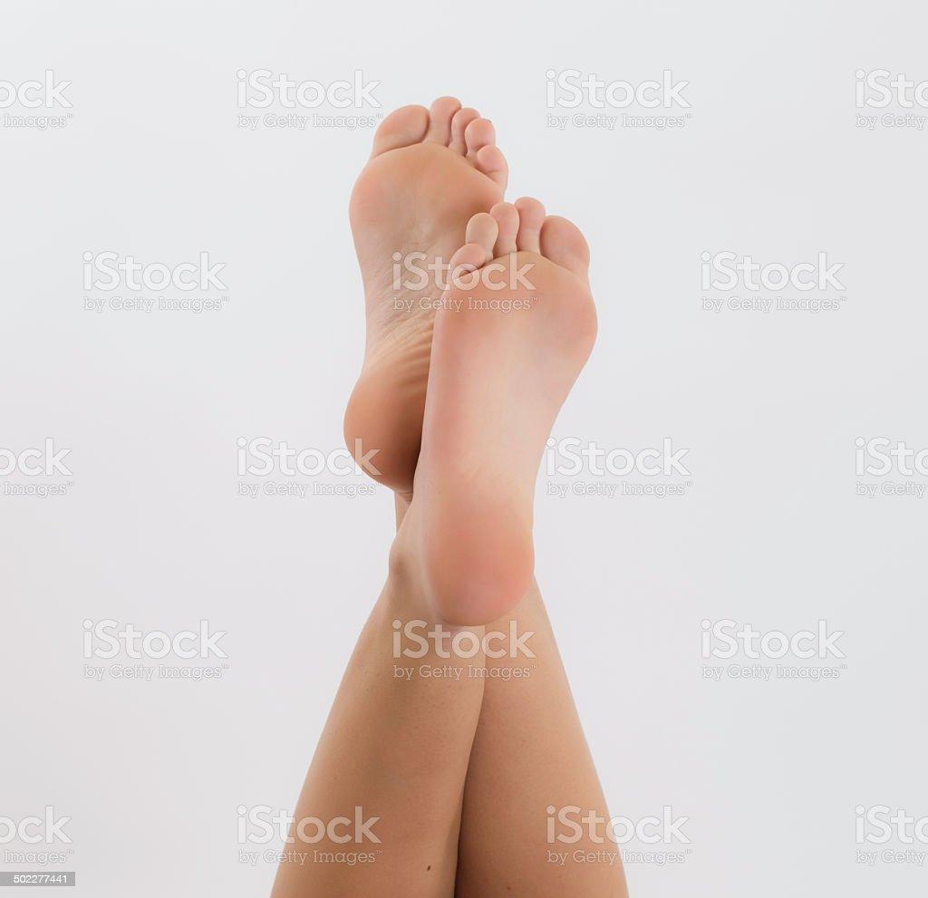 Beautiful foot stock photo