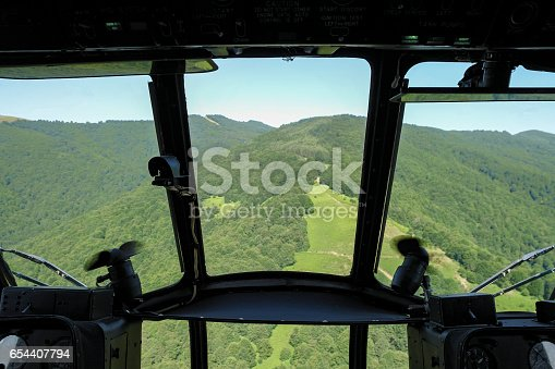 istock beautiful forest aerial view from helicopter pilot POV 654407794