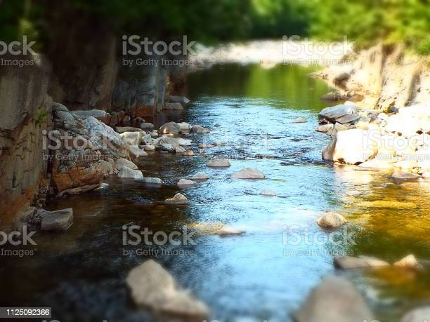 Photo of Beautiful forest stream in white mountains New Hampshire