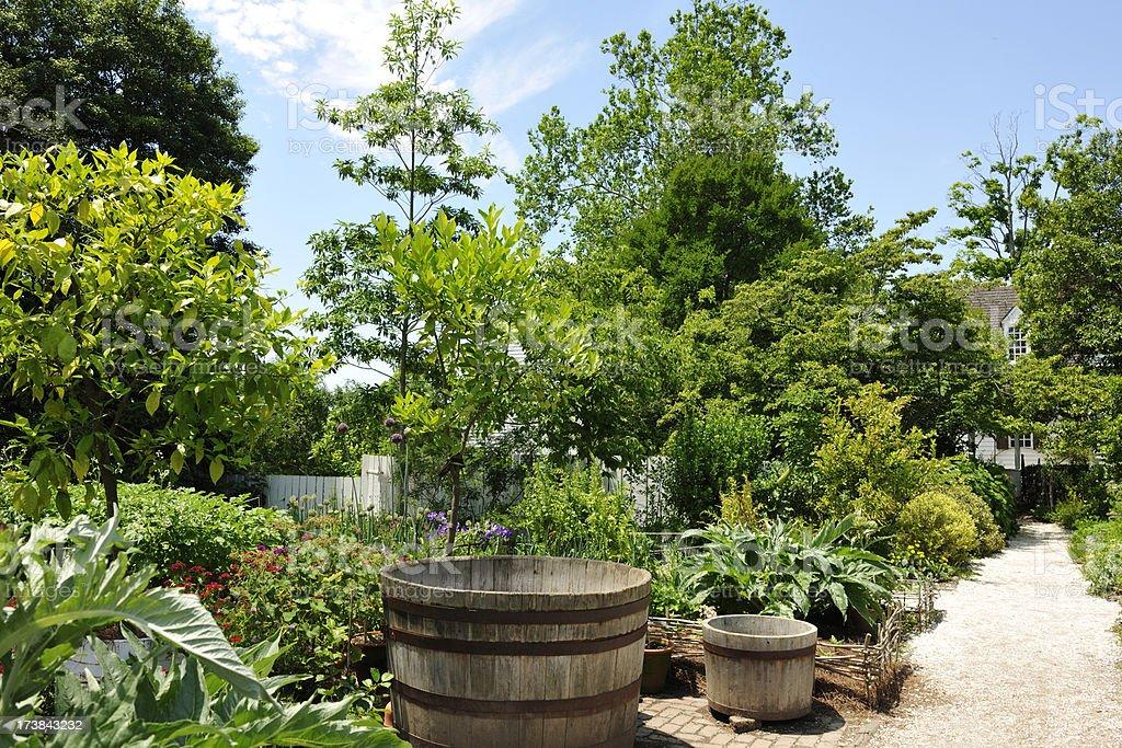Beautiful formal English Garden Horizontal royalty-free stock photo