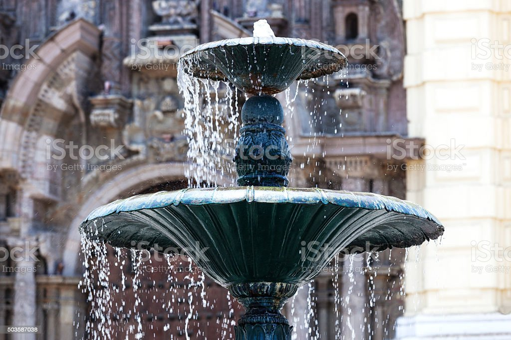 beautiful fountain stock photo