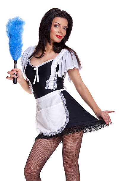 Royalty free french maid outfit pictures images and stock photos beautiful french maid stock photo solutioingenieria Gallery