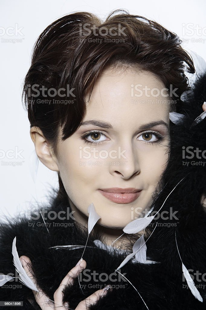 Bella donna francese foto stock royalty-free