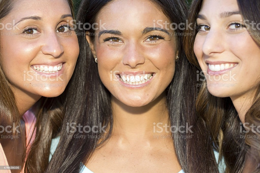 beautiful friends royalty-free stock photo