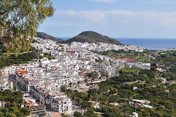 beautiful Frigiliana village,Spain stock photo