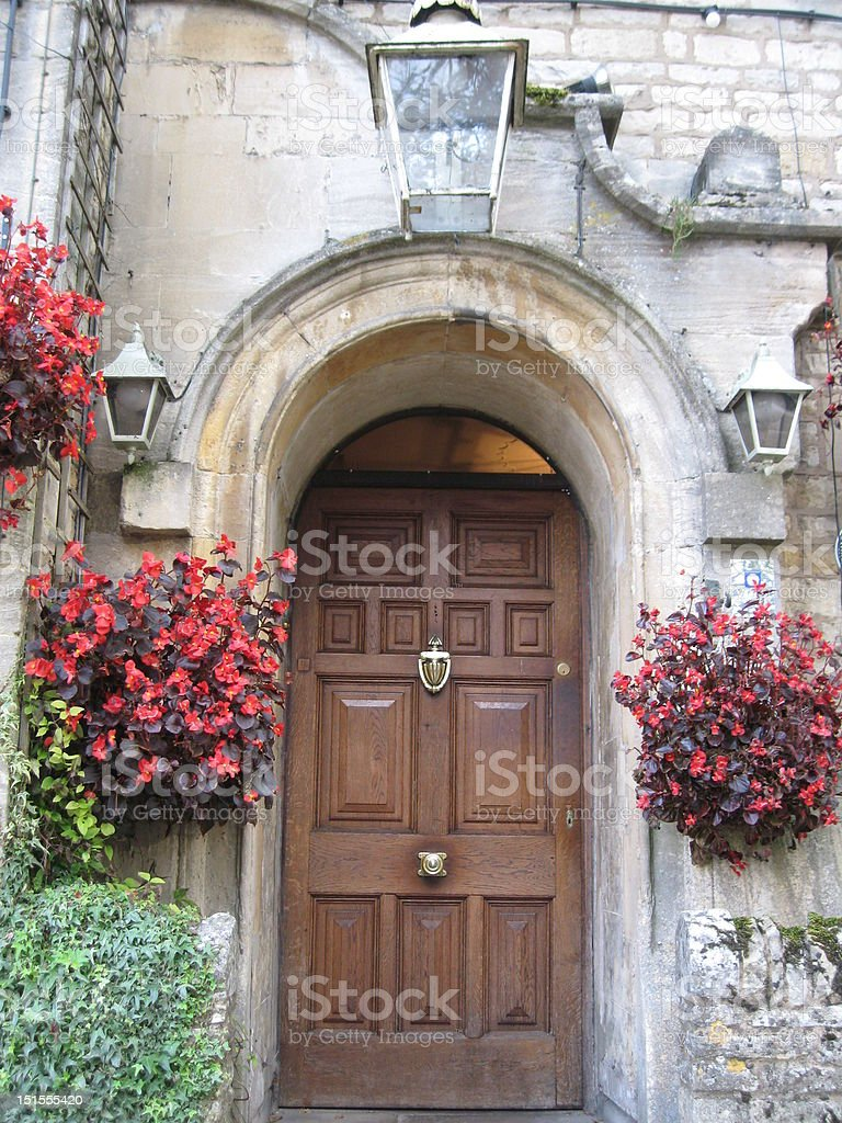 a beautiful English front door