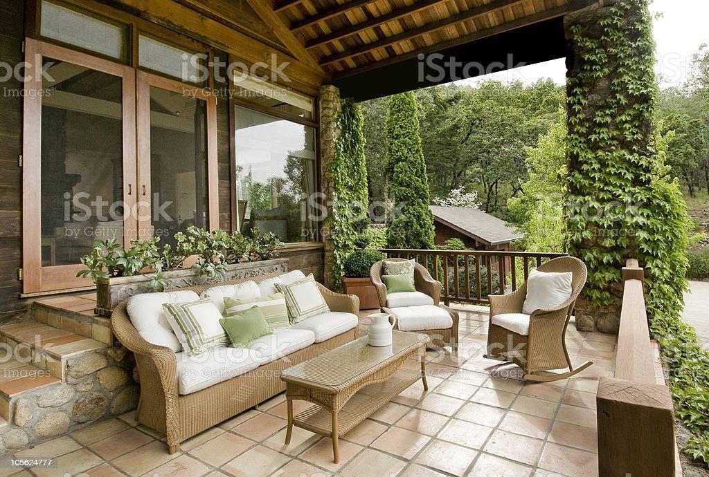Schöne Veranda - Lizenzfrei Terrasse - Grundstück Stock-Foto