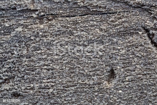 istock Beautiful frost crystals on wood close-up texture background 911275104