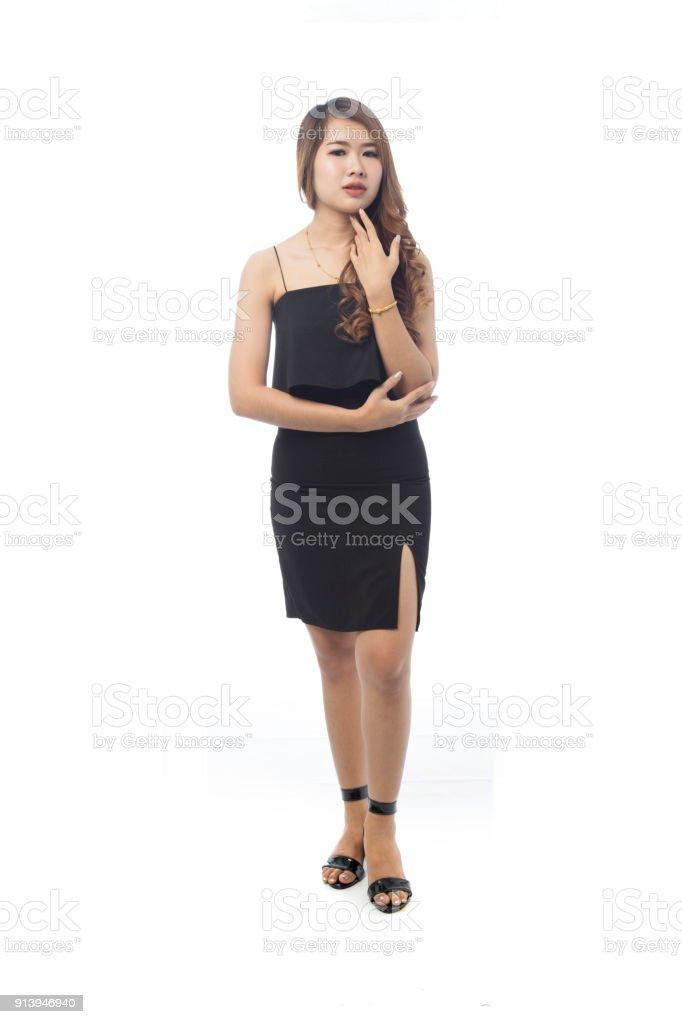 Asian women in short skirts