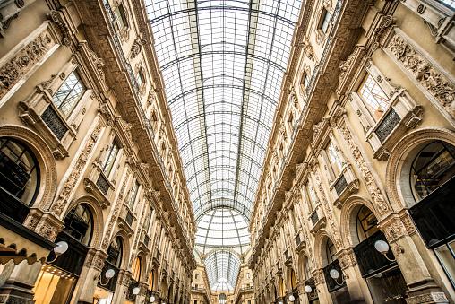 Beautiful Gallery Vittorio Emanuele II In Milano, Italy