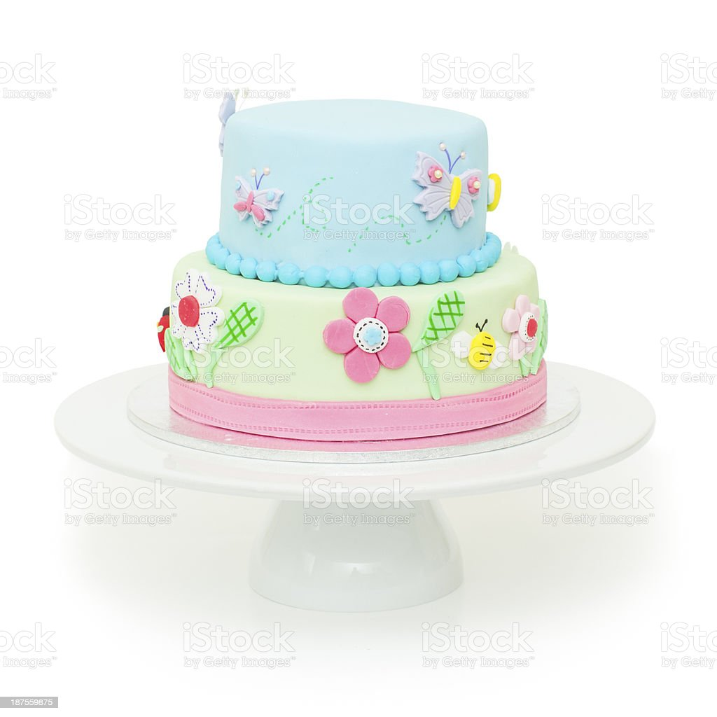 Amazing Beautiful Garden Themed Birthday Cake Stock Photo Download Image Funny Birthday Cards Online Overcheapnameinfo