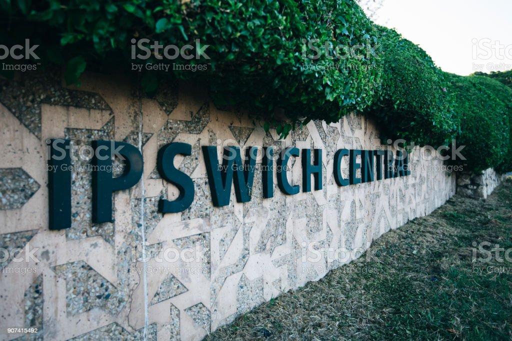 Beautiful gardens in Ipswich City, Queensland. stock photo