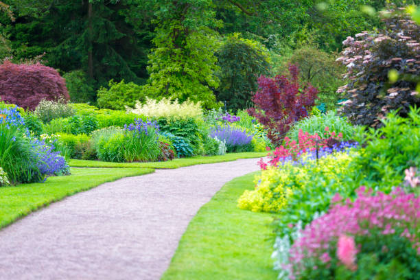 ... Beautiful gardens stock photo ...