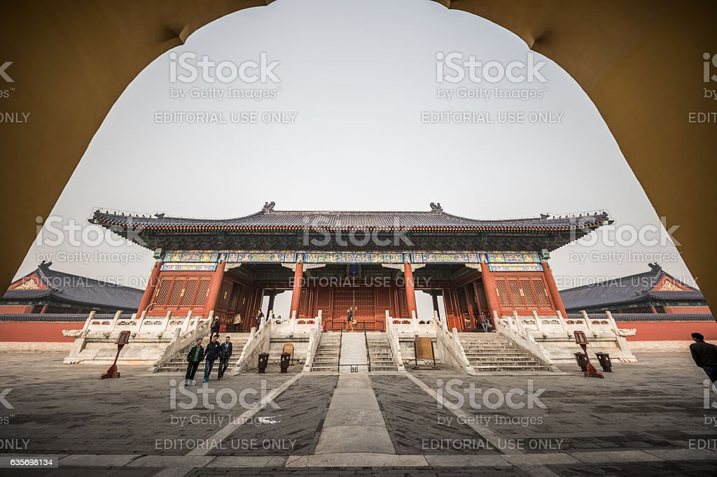 Beautiful gate in Temple of Heaven, Beijing, China royalty-free stock photo