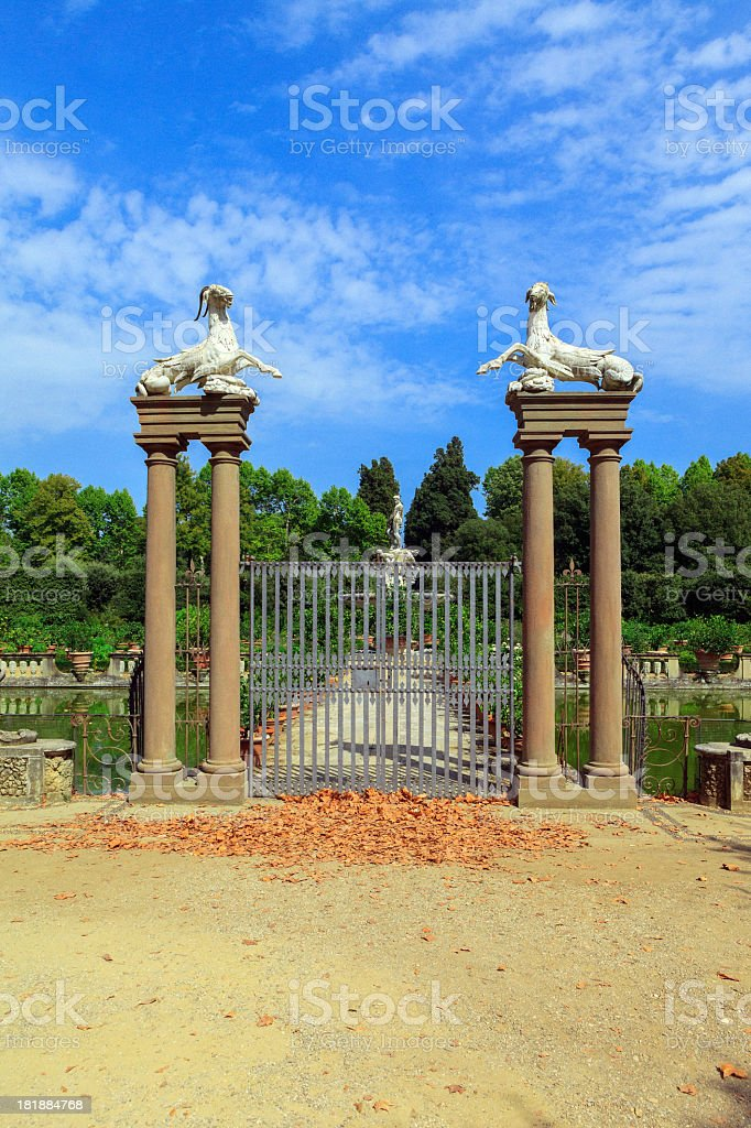 Beautiful gate to the park royalty-free stock photo