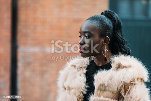 Portrait of Central African woman in London, UK
