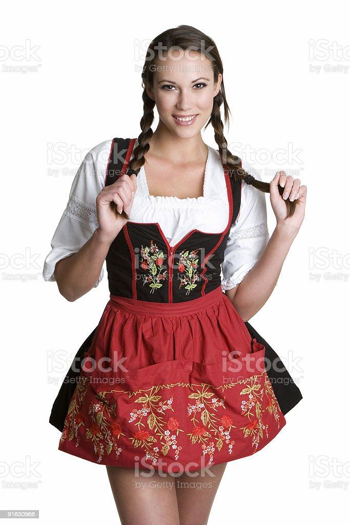 Beautiful german lady royalty-free stock photo