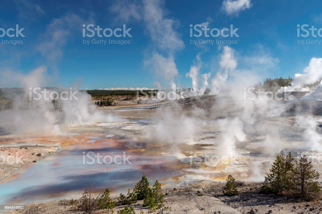 Beautiful geysera valley stock photo