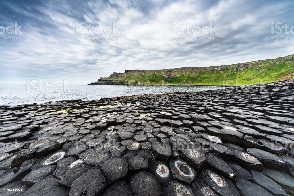 Beautiful Giants Causeway Panorama Northern Ireland royalty-free stock photo