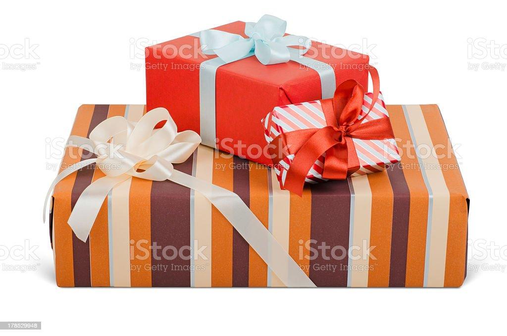 Beautiful gift boxes royalty-free stock photo