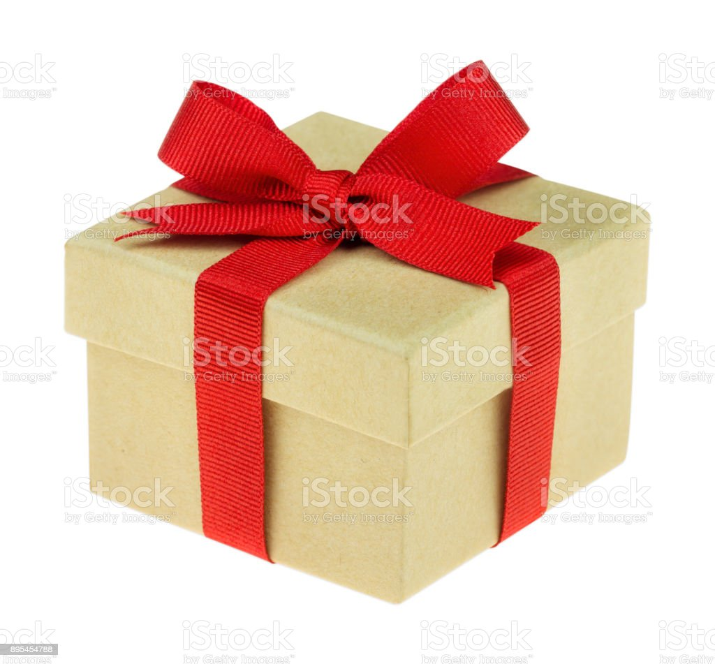 Beautiful gift isolated on white stock photo