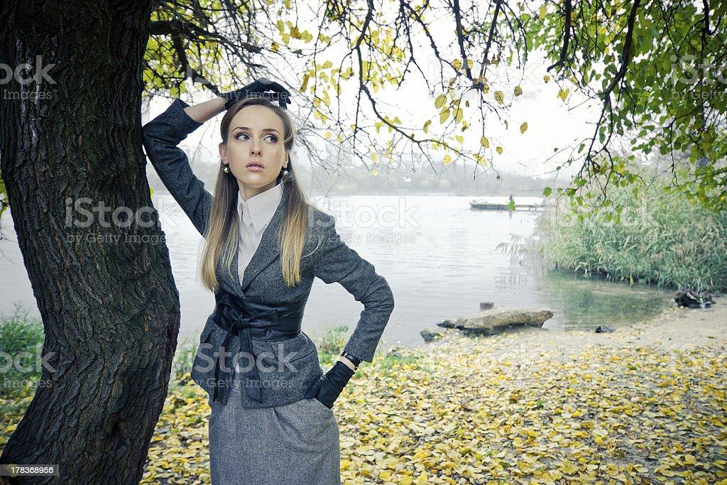 Beautiful girl at the lake royalty-free stock photo