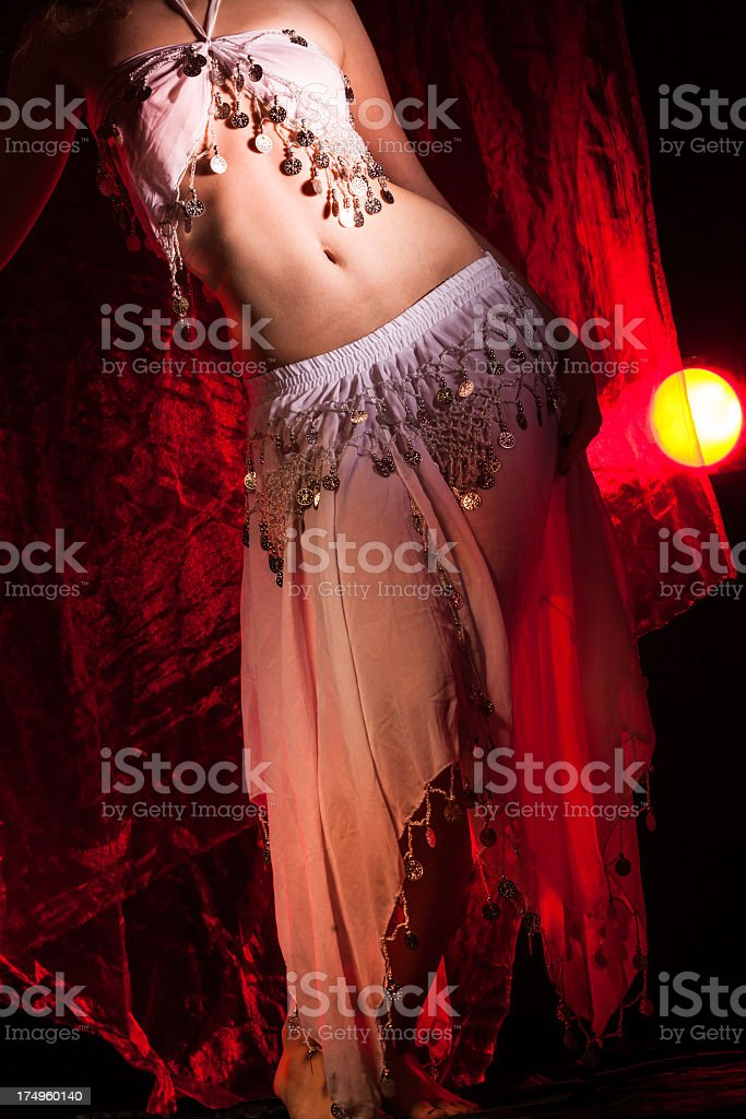 Beautiful girl dancer of Arabic dance royalty-free stock photo