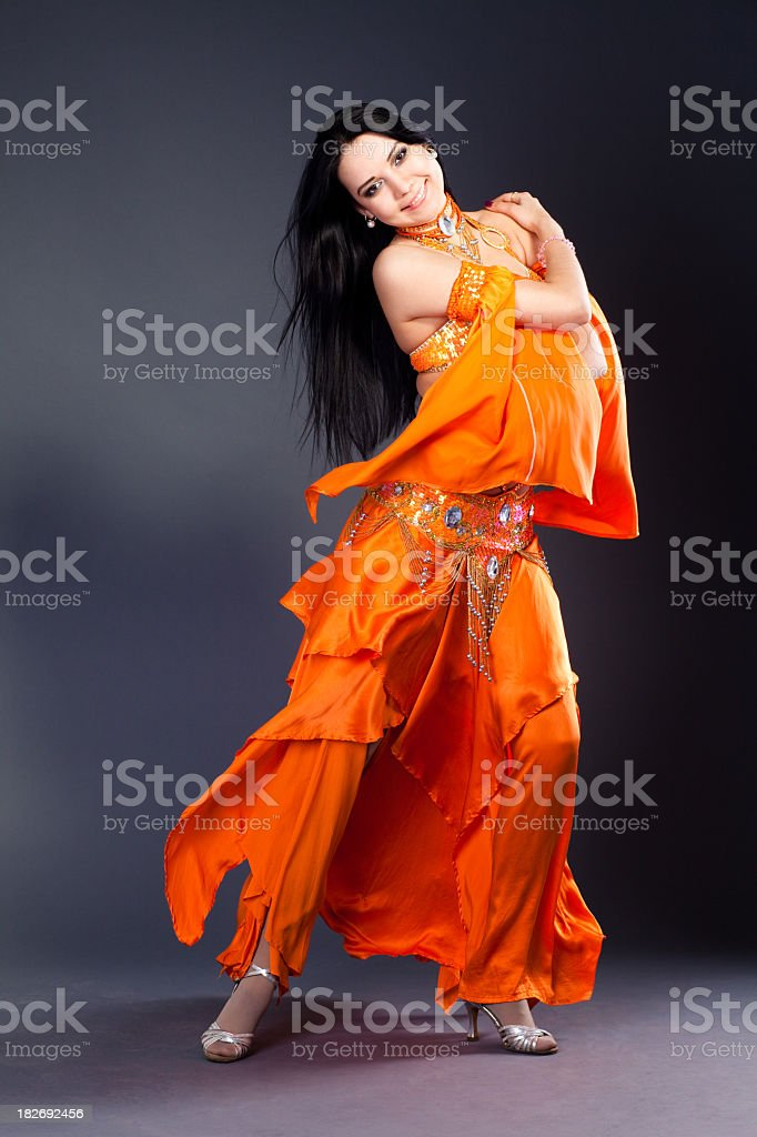 Beautiful girl dancer of Arabic dance stock photo