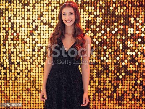 Beautiful girl dancing at nightclub