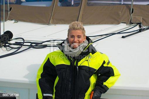 155674939 istock photo Beautiful girl fishing in northern Norway 666798736