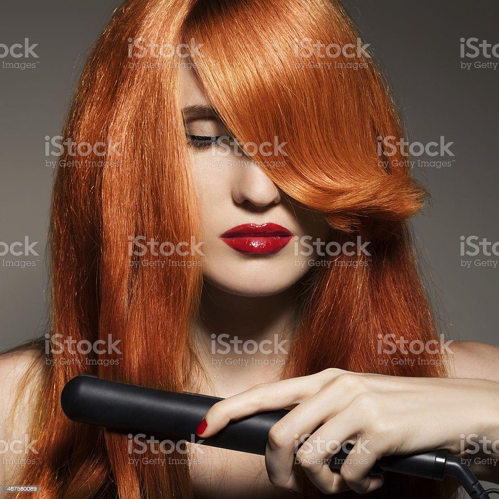 Beautiful Girl. Healthy Long Hair. royalty-free stock photo