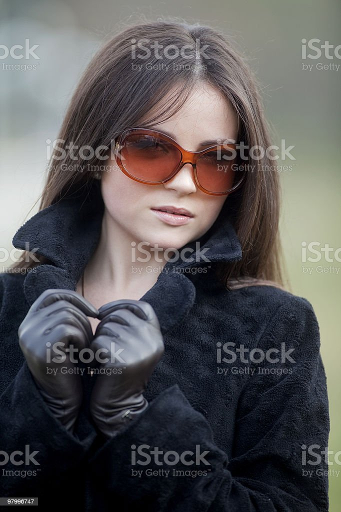 beautiful girl in a outdoor shooting royalty free stockfoto