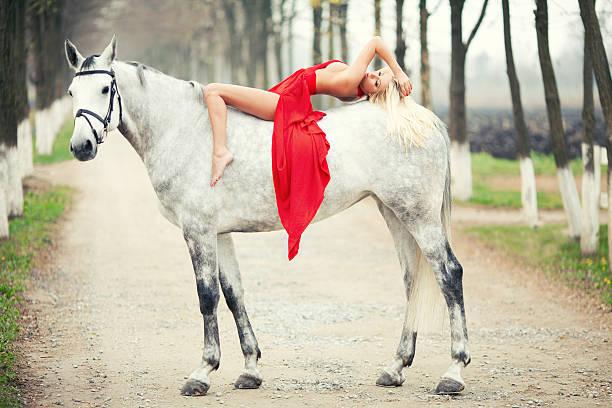 Best Horse Sensuality Sex Symbol Women Stock Photos