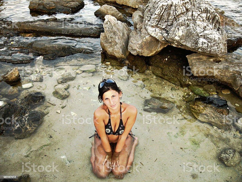 아름다운 소녀 물 royalty-free 스톡 사진