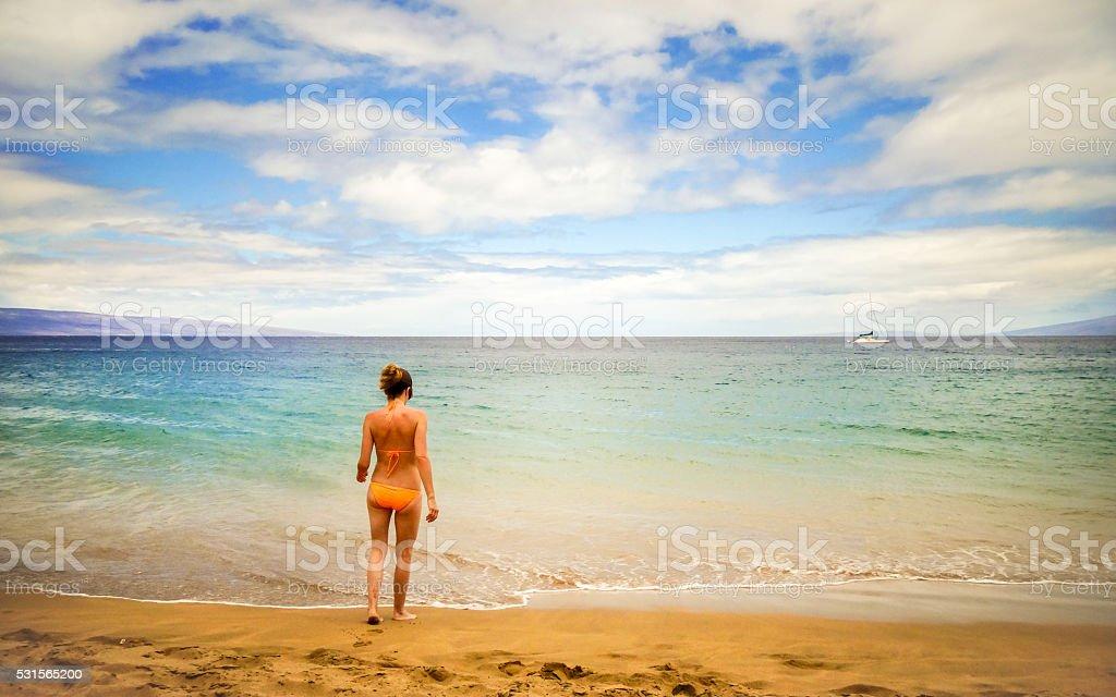 Más Tropical Chica Stock Imágenes Playa Isla Banco De Bikini La Técnicas En Foto Hermosa Actividades Y Relajación kXuPiZOT